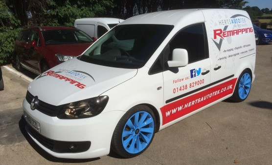 Our Caddy Van is Finally Signwritten!